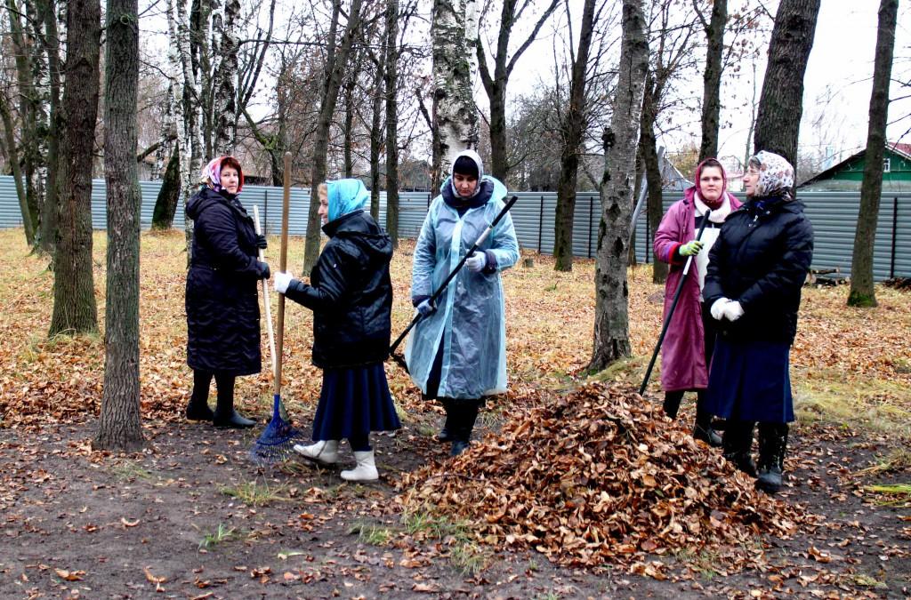 Собираем листву